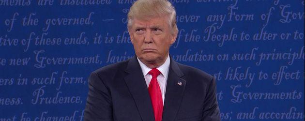 Donald Trump bei der Debatte am 10. Oktober 2016