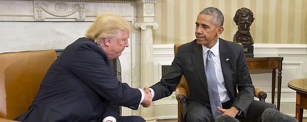 Donald Trump und Barack Obama im Oval Office