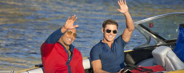 "Dwayne ""The Rock"" Johnson und Zac Efron am Set von ""Baywatch"""