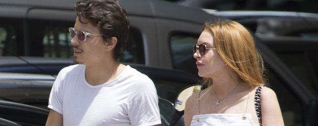 Egor Tarabasov und Lindsay Lohan in Madrid