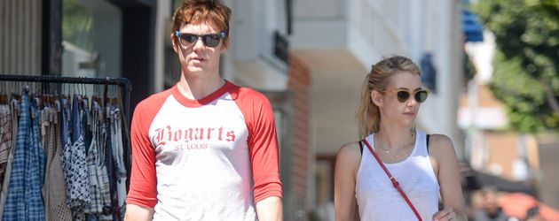 Evan Peters und Emma Roberts in Los Angeles im August 2016