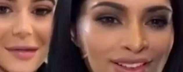 Kylie Jenner und Kim Kardashian bei einem Face-Swap
