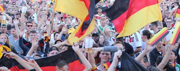 Fans beim Public Viewing in Nürnberg
