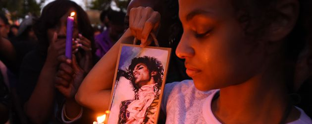Prince-Fans am Tag seines Todes
