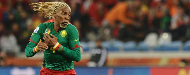 Fußball-Star Rigobert Song im Jahr 2010