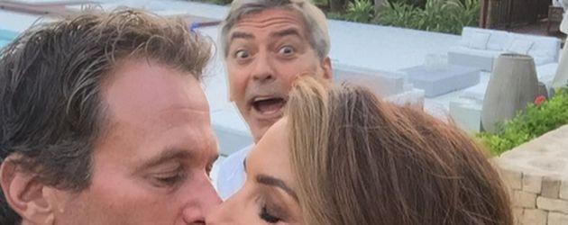 Cindy Crawford, George Clooney und Rande Gerber