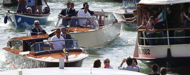 George Clooney und Amal Alamuddin in Venedig