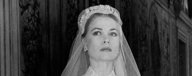 Grace Kelly bei ihrer Hochzeit 1956