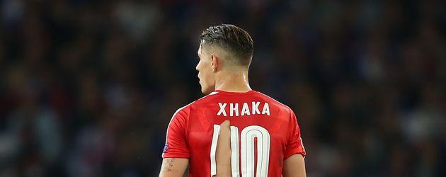 Granit Xhaka beim EM-Spiel gegen Frankreich