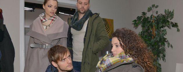 Nadine Menz, Jörn Schlönvoigt, Felix von Jascheroff und Anne Menden