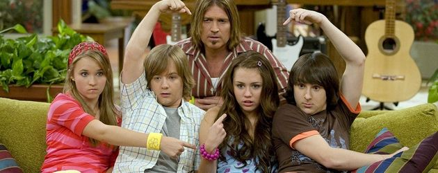 Miley Cyrus, Billy Ray Cyrus, Mitchel Musso und Emily Osment