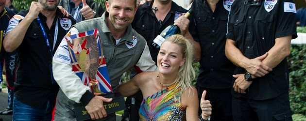 Hannes Arch und Miriam Höller beim Red Bull Air Race Ascot Day 2016