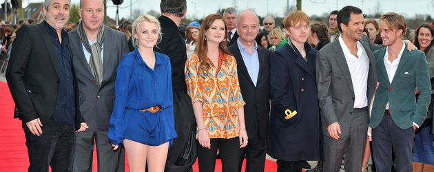 Rupert Grint, Bonnie Wright, Evanna Lynch und Tom Felton