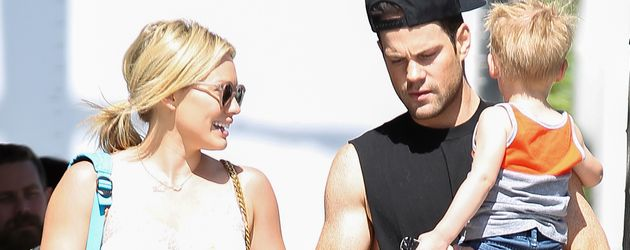 Hilary Duff, Luca Comrie und Mike Comrie