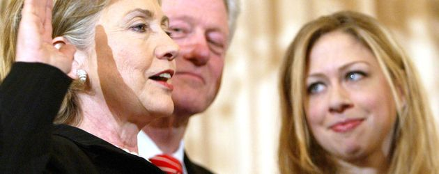Chelsea Clinton, Hillary Clinton und Bill Clinton