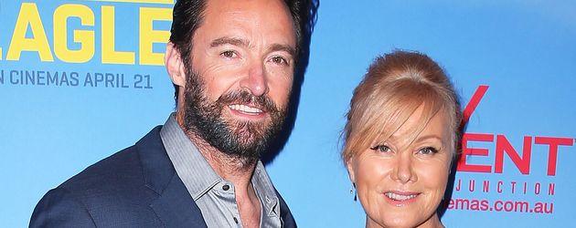Hugh Jackman mit seiner Frau Deborra Lee-Furness