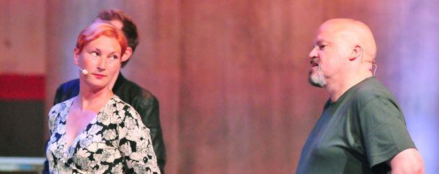 Ilona Magyar und Hubert Kah bei einer Challenge im RTL-Sommerhaus