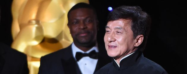 Jackie Chan und Kollege Chris Tucker im November 2016 bei den Governors Awards in L.A.