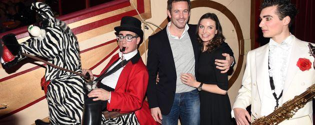 """Jan Hartmann und Frau Julia bei der """"Circus Krone Weihnachtsshow 2014"""""""