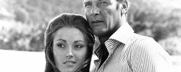 "Jane Seymour und Roger Moore im ""James-Bond""-Film ""Live and Let Die"" 1973"