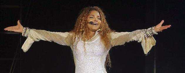 Janet Jackson auf der Bühne bei ihrem Tour-Start in Vancouver im August 2015