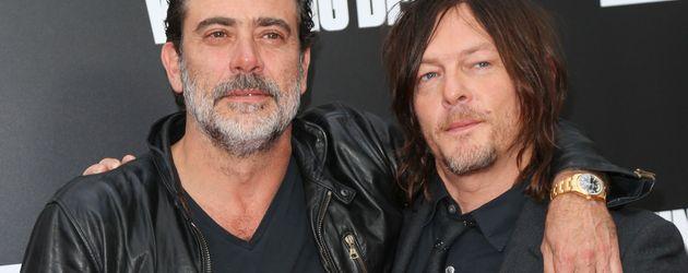 """Jeffrey Dean Morgan und Norman Reedus bei der Premiere von """"The Walking Dead"""" in Los Angeles"""