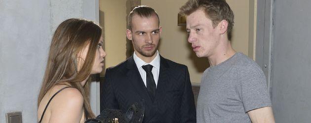 Jessica (Lisa Degner), Chris (Eric Stehfest) und Vince (Vincent Krüger)