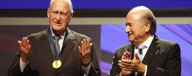 Joao Havelange (l.) und Joseph Blatter