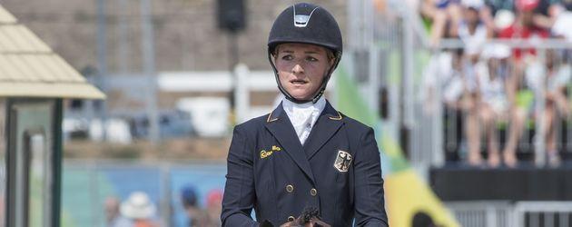 Julia Krajewski auf ihrem Pferd Samourai du Thot (Olympia 2016)