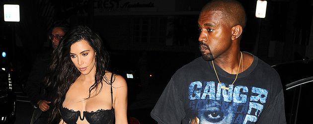 Kanye West und Kim Kardashian in Miami