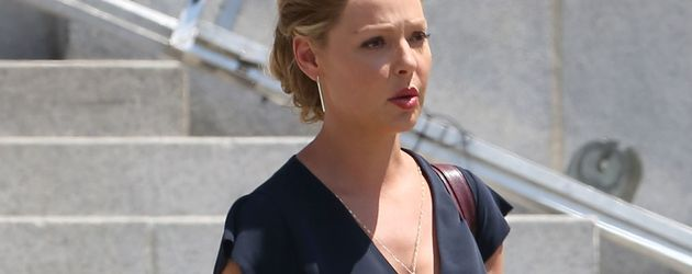 "Katherine Heigl am Set ihrer Serie ""Doubt"""