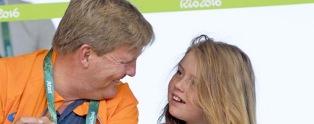 König Willem-Alexander und Tochter Alexia