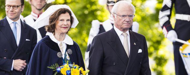 Königin Silvia und König Carl Gustaf am schwedischen Nationalfeiertag in Stockholm