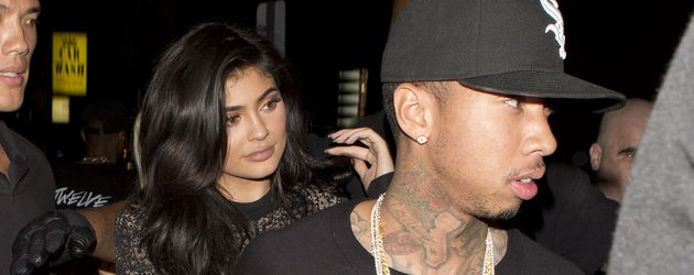 "Kylie Jenner und Tyga vor dem ""The Nice Guy""-Club in West Hollywood"