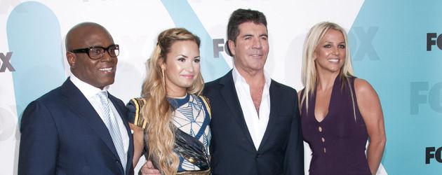 LA Reid, Demi Lovato, Simon Cowell und Britney Spears