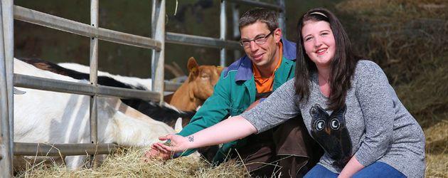 Landwirt Roland und seine Kandidatin Verena
