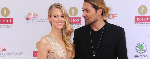 Model Larissa Marolt und Stargeiger David Garrett beim Echo Klassik 2016