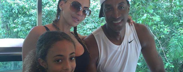 Larsa und Scottie Pippen mit ihrer Tochter Sophia