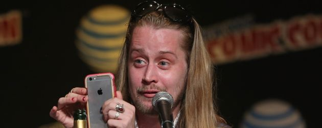 Macaulay Culkin bei einer Pressekonferenz in New York