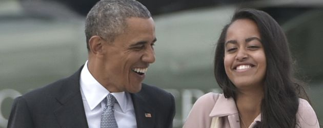 Barack Obama und Malia Obama