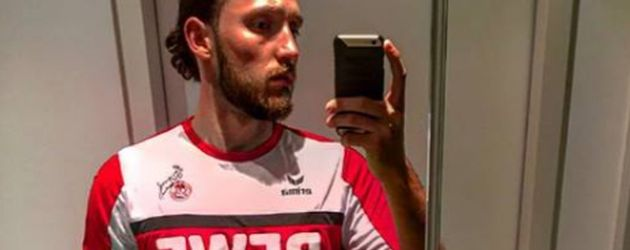 "Marco Höger im ""1. FC Köln""-Trikot"
