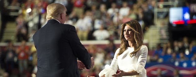 Melania Trump und Donald Trump beim Nominierungsparteitag der Republikaner in Cleveland