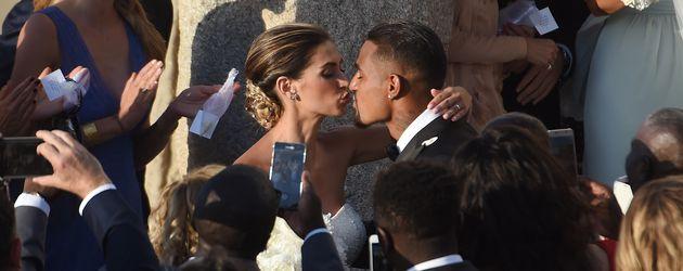 Melissa Satta und Kevin Prince Boateng nbei ihrer Hochzeit