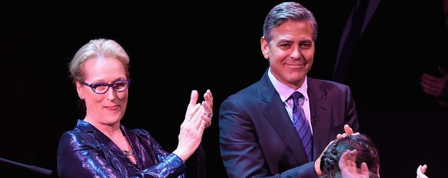 Meryl Streep und George Clooney bei der SeriousFun Children's Network's New York City Gala
