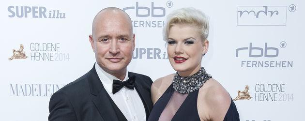 Melanie Müller und Mike Blümer bei der Goldenen Henne