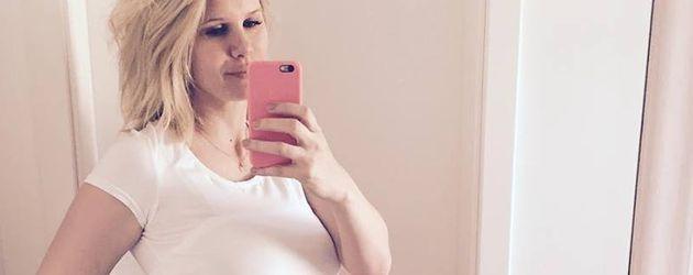 Monica Ivancan in ihrer zweiten Schwangerschaft