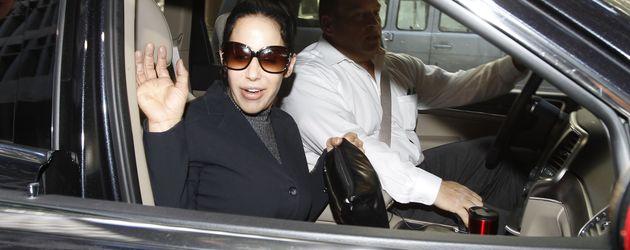 Nadya Suleman 2014 beim Verlassen eines Gerichtsgebäudes in Los Angeles