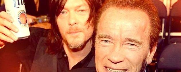 Arnold Schwarzenegger und Norman Reedus