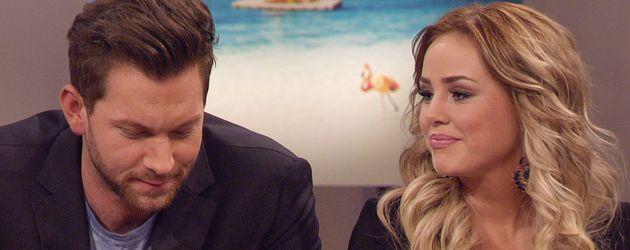 Oliver Sanne und Liz Kaeber bei der Bachelor-Reunion-Show
