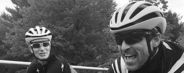 Patrick Dempsey unterwegs mit dem Rad